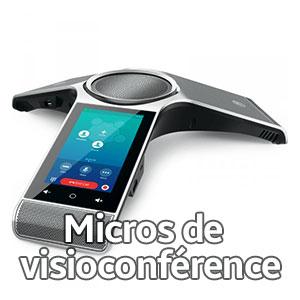 microphones de visioconférence
