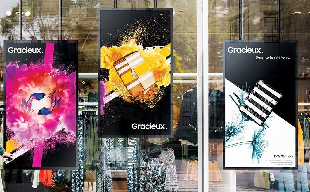 Affichage vitrine Samsung OM55